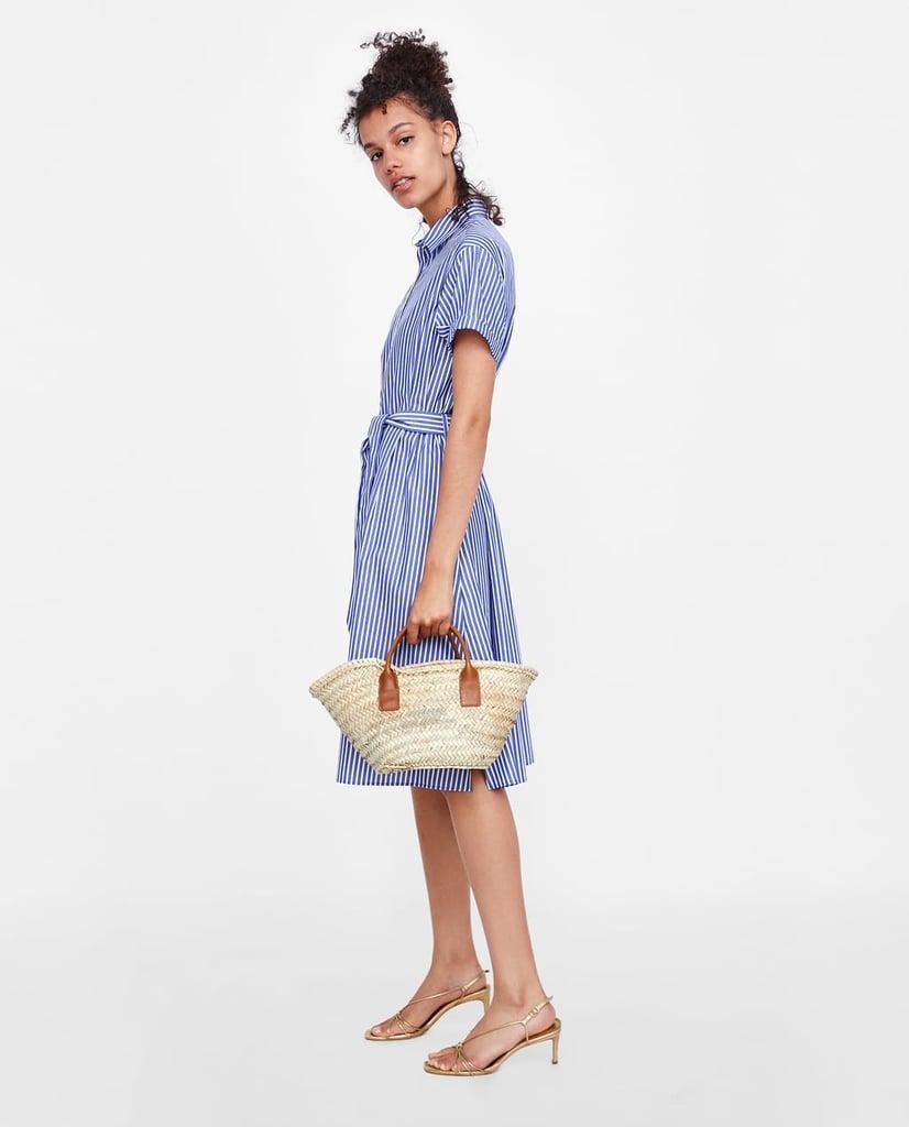 687f1cbb Black And White Striped Shirt Dress Zara | Lixnet AG