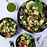 Salad With Steam-Fried Veggies