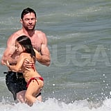 Hugh Jackman and Ava Jackman in St. Tropez.