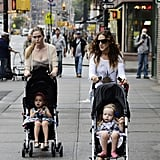 Sarah Jessica Parker and the twins made their way down the street in NYC.