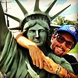 Jason Mraz showed love to Lady Liberty. Source: Instagram user jason_mraz