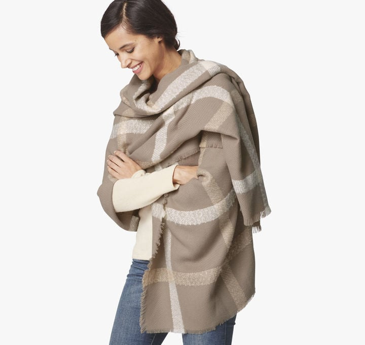 Johnston & Murphy Windowpane Blanket Wrap ($68)