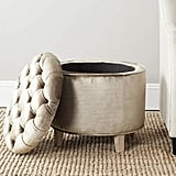 Safavieh Hudson Collection Amelia Tufted Storage Ottoman