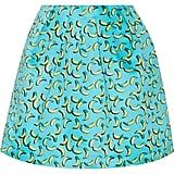 Markus Lupfer Bananas Kat Printed Satin Skirt ($235)