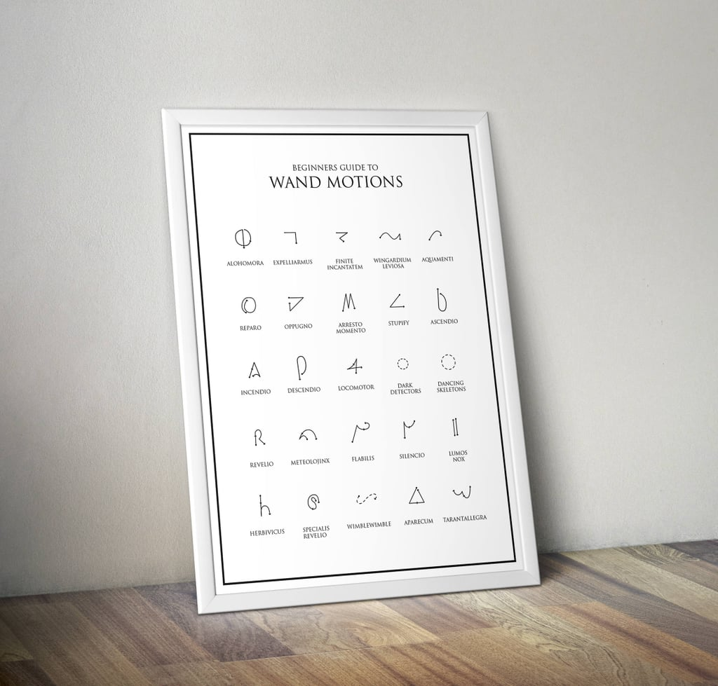 Harry Potter Wand Motions Print ($4-$150)
