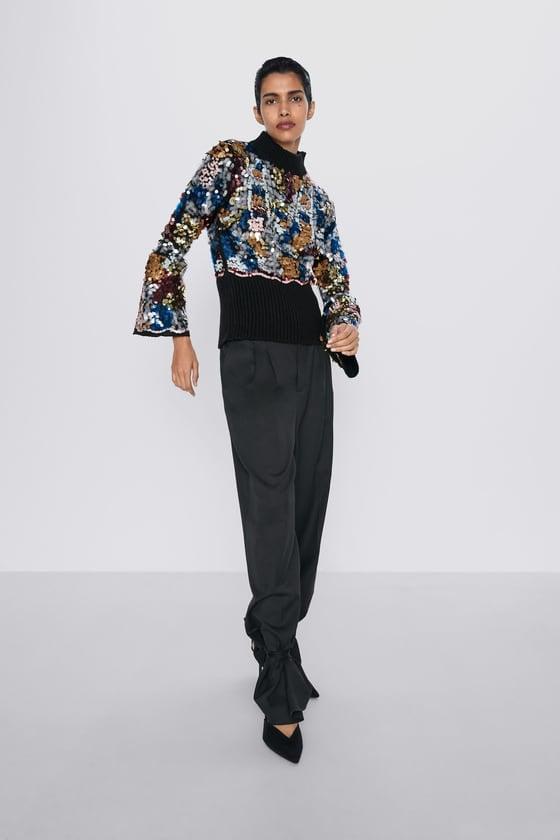 Zara Sequin Sweater