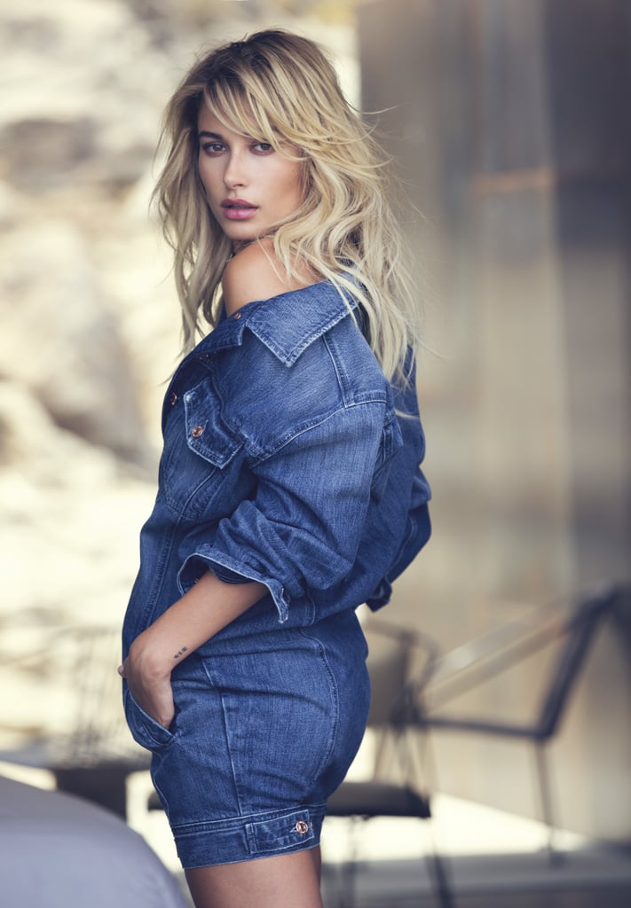 Hailey Baldwin is already a seasoned pro when it comes to shooting Guess campaigns. For her second one, the model jetted to Palm Springs to work on the brand's holiday 2016 ads, modeling varsity-style bombers and luxe fur that you'll be dreaming about come Winter. In addition, she's also sporting Guess's Fall denim collection, showing off a one-piece jean romper.  Don't get too distracted by the clothes, though, or you'll miss Hailey's sultry stare and sexy poses. The model has perfected her stance in front of the camera, and it makes all the difference. Scroll ahead to see all the images from the new campaign, then start picking out which items you'll want to add to your holiday wish list.      Related:                                                                Hailey Baldwin's Street Style Is So Good, It's Almost Unfair                                                                   Hailey Baldwin Is Officially a Guess Girl — and Her New Campaign Is Pretty Darn Sexy                                                                   Hailey Baldwin's Wearing Jeans, They Just Happen to Reveal Her Whole Thigh