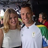 Jenna Bush Hager posed with runner Oscar Pistorius.  Source: Twitter user todayshow