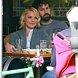 Josh Kelley Plants a Lunch-Time Kiss on Katherine Heigl