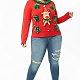 Reindeer Plus-Size Christmas Sweater