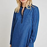 BCBGeneration Henley A-Line Denim Dress