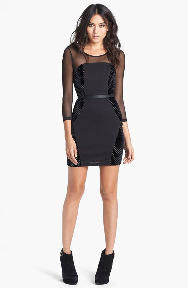 Wear this Minkpink Roller Disco Mixed Media Body-Con Dress ($89) to Christmas dinner and again for NYE; it could easily work for both occasions.