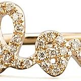 Sydney Evan Diamond Love Script Ring ($860)
