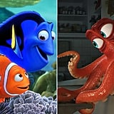 Dory, Marlin, and Hank in Finding Dory