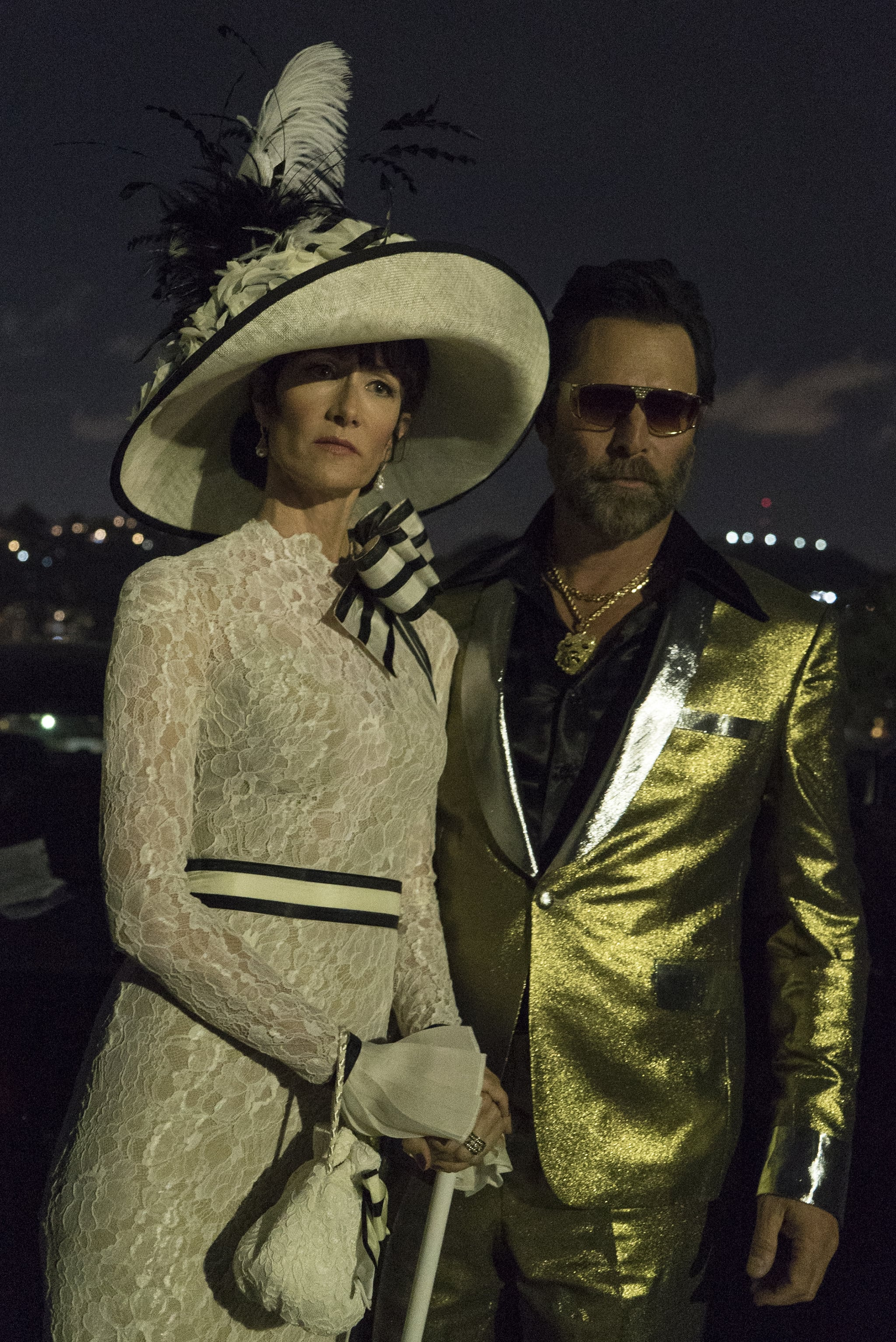 Renata As My Fair Lady Audrey And Gordon As Gold Suit Elvis Go Meta This Halloween With One Of These Big Little Lies Elvis Audrey Costumes Popsugar Entertainment Photo 6