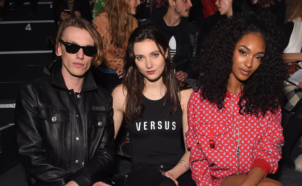 Jamie Campbell Bower, Matilda Lowther and Jourdan Dunn at Versus