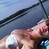 Hilary Rhoda is basking in the sun at Lake Lonely.