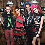 Cindy Crawford and Rande, Presley, and Kaia Gerber as Punk Rockers