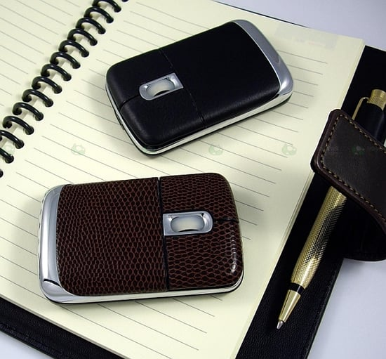 Totally Geeky or Geek Chic? Leather Mouse With USB