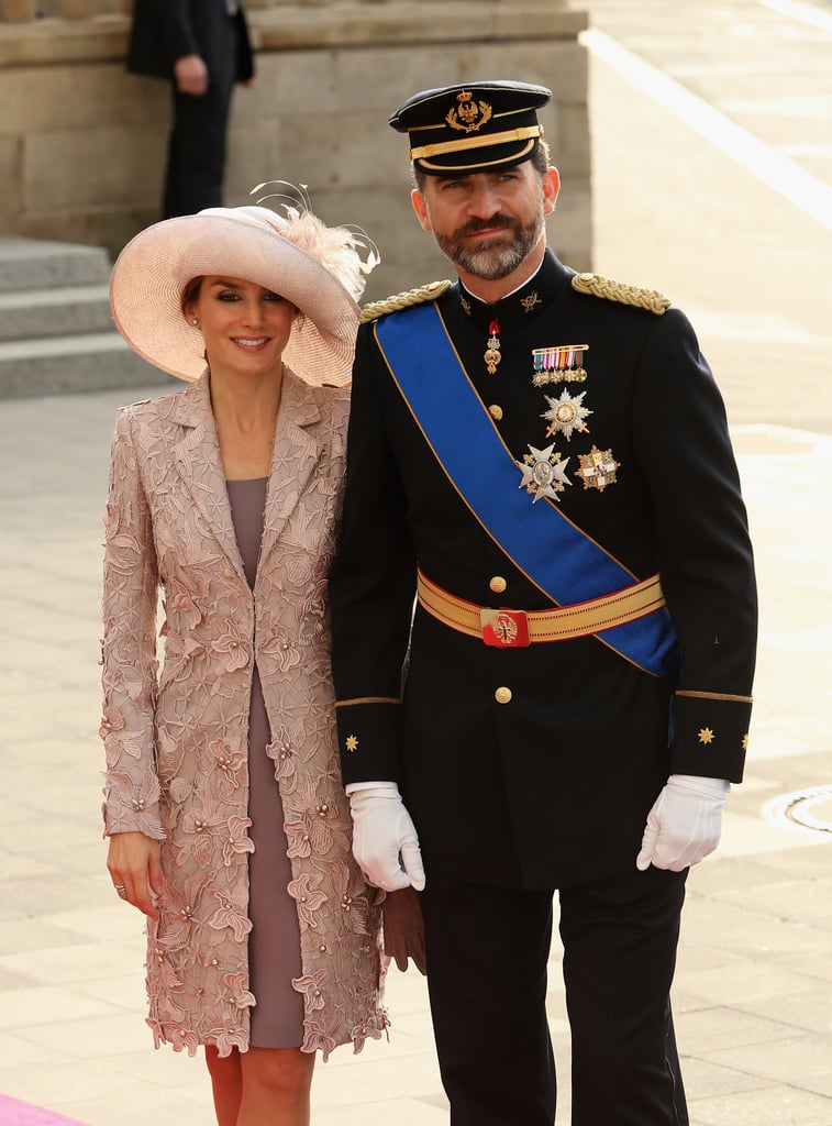 Prince Felipe of Spain and his wife, Princess Letizia of Spain, attended a wedding in Luxembourg in October 2012.