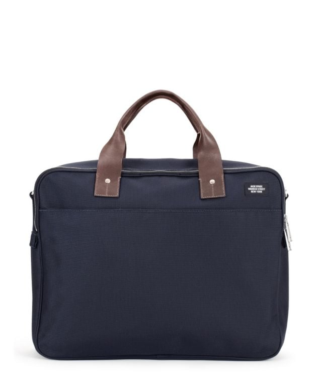 Jack Spade Leather-Trimmed Nylon Briefcase