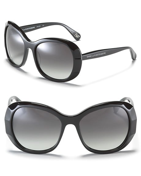 DVF Faceted Frame Oversized Sunglasses ($145)