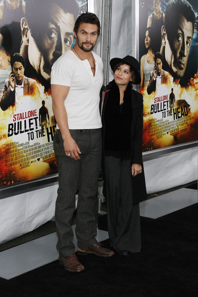 The two hit the red carpet for the NYC premiere of Jason's movie Bullet to the Head in January 2013.