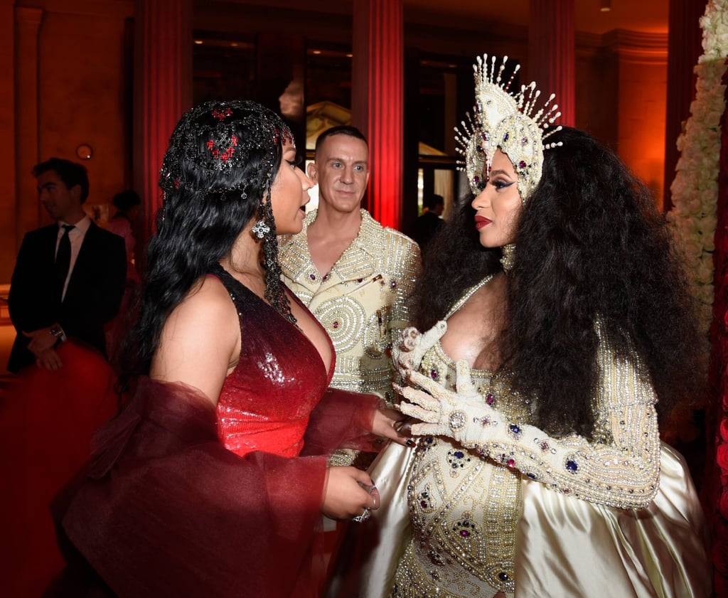 Cardi B and Nicki Minaj at the 2018 Met Gala