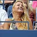 Blake Lively watches the US Open.