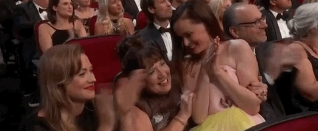 Alexis Bledel Sitting on Ann Dowd's Lap at the 2018 Emmys