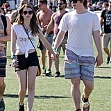 Emma Roberts went to Coachella with boyfriend Evan Peters in 2013.