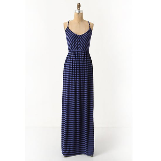 """>> Accessories with nautical details (think rope belts, espadrilles, and canvas totes) play up the stripes on this weekend-perfect dress. Equinox Striped Maxi Dress, $158 Looks chic with: <iframe src=""""http://widget.shopstyle.com/widget?pid=uid5121-1693761-41&look=3353513&width=3&height=3&layouttype=0&border=0&footer=0"""" frameborder=""""0"""" height=""""244"""" scrolling=""""no"""" width=""""286""""></iframe>"""