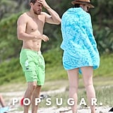 Charlie Hunnam and Morgana McNelis Pictures in Hawaii 2018