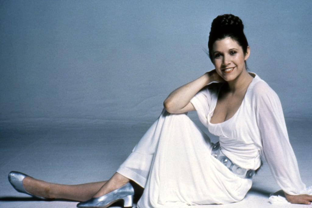 Another Look at Carrie as Princess Leia on the Set of Star Wars: Episode IV