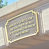 The inspiring quote that welcomes you into the park.