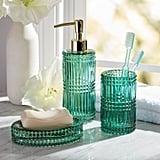 Drew Barrymore Flower Home 3-Piece Glass Bath Accessory Set