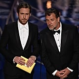 Ryan Gosling and Russell Crowe Presenting at the 2016 Oscars
