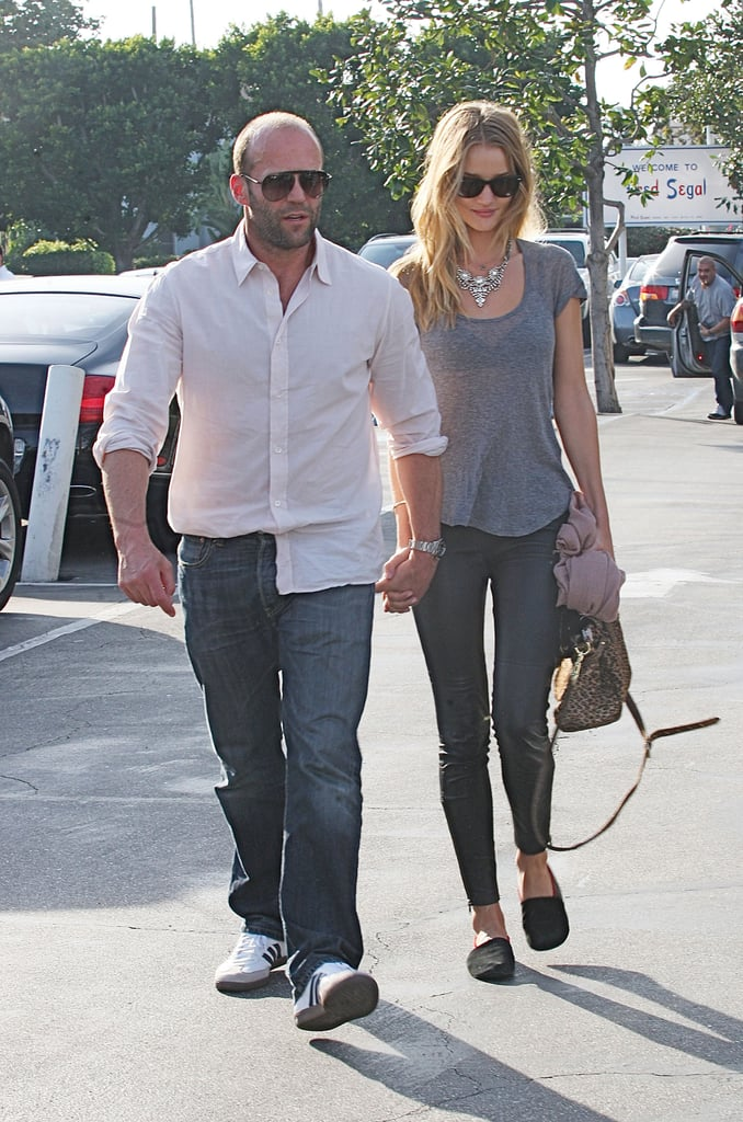 Pictures of Jason Statham and Rosie Huntington-Whiteley At Fred Segal in LA