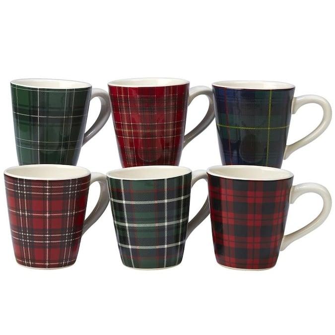 Certified International Christmas Plaid Set/6 Mug 16 -oz (6) asst. Lowes.com