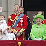 The royal siblings stole the spotlight at the Trooping the Colour parade in London in June.