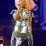 Nicki Minaj was pretty in pink.