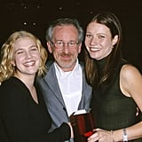 Gwyneth and Drew Barrymore met up with their godfather, Steven Spielberg, at a Hollywood luncheon in November 1999.