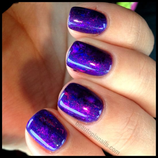 Prismatic Purples with CND Shellac