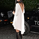 From this angle, Nicole Scherzinger's ensemble was all about the sexy details: a jaw-dropping back and zipper-exposed knee-high boots.