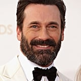 Jon Hamm showed off a scruffy look at the Emmys.