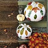 Leaf-Covered Pumpkins