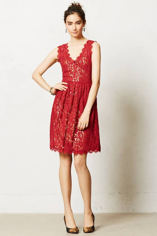 By Greylin Red Lace Dress