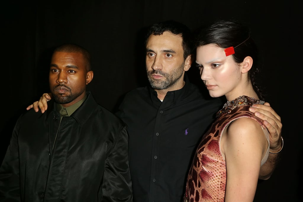 Kendall posed with her future brother-in-law and fashion-world favorite Kanye West and designer Riccardo Tisci after walking the Givenchy show.