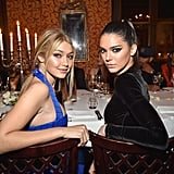 Gigi and Kendall Looked Back at It During Dinner