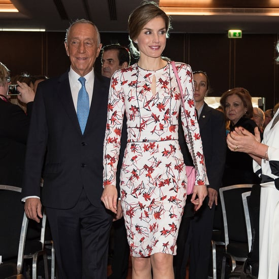 Queen Letizia's Carolina Herrera Floral Dress March 2017